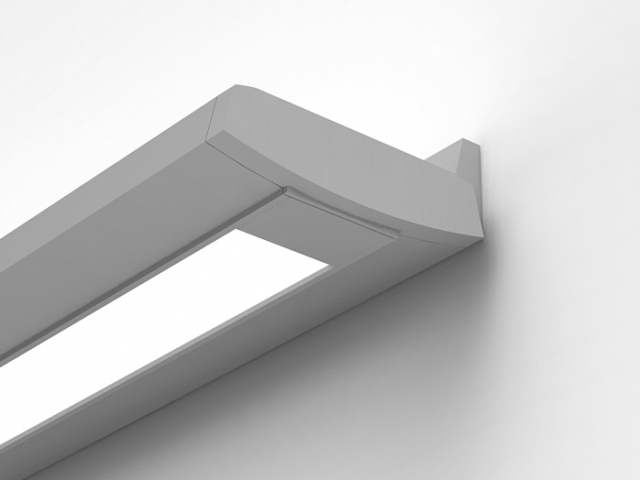 Delgada Curved Wall Mount with Flat End Cap