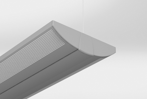 Luminata Suspended with Sculpted End Cap
