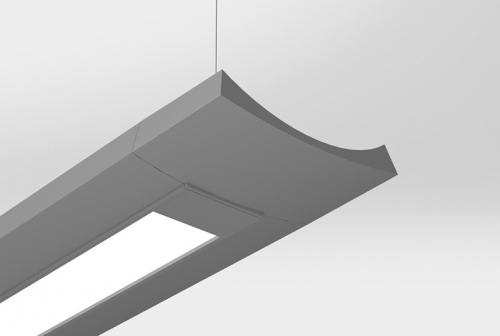 Delgada Curved Suspended with Extended End Cap