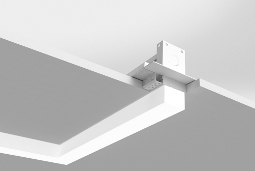 Microlinea Recessed Series 2 Horizontal 90 Degree Corner with 1.375 Accent/Drop Lens - Spackle Flange