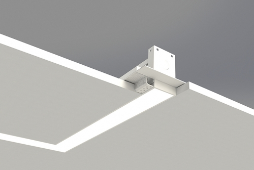Microlinea Recessed Series 2 Horizontal 90 Degree Corner with Spackle Flange