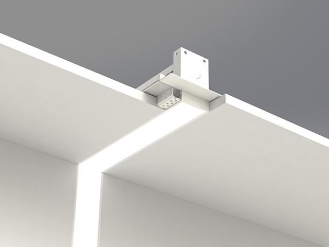 Microlinea Recessed Series 2 Vertical 90 Degree Corner with Spackle Flange