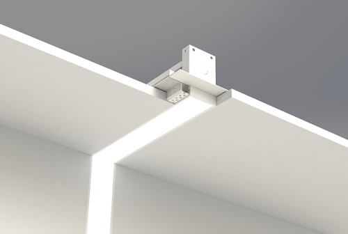 Microlinea Recessed Series 2 Vertical 90 Degree Corner with Spackle Flange