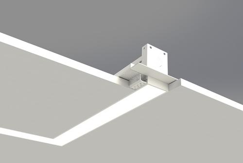 Microlinea Recessed Series 2 Horizontal 90 Degree Corner with Spackle Flange