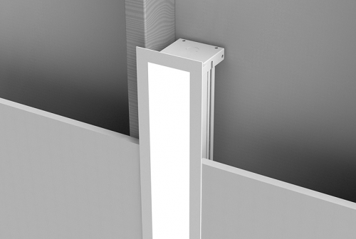 Microlinea Recessed Series 3 Vertical Wall Mount with Overlap Flange