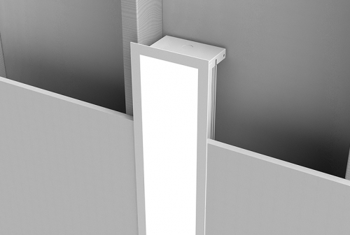 Microlinea Recessed Series 5 Vertical Wall Mount - Overlap Flange
