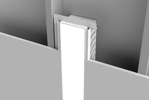Microlinea Recessed Series 5 Vertical Wall Mount - Spackle Flange