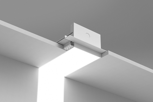 Microlinea Recessed Series 5 Vertical 90 Degree Corner with Spackle Flange