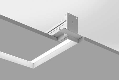 Microlinea Recessed Series 2 - Horiz. 90 Deg. Corner - Spackle Flange w_ Regress Lens