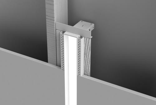 Microlinea Recessed Series 2 - Vertical Mount Spackle Flange w_Regress Lens