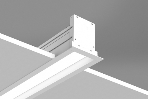Microlinea Recessed Series 3 - Drywall Ceiling - Overlap Flange with Regress Lens