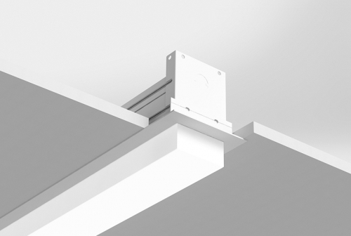 Microlinea Recessed Series 3 - Drywall Ceiling - Overlap Flange with 1.375 Accent Lens