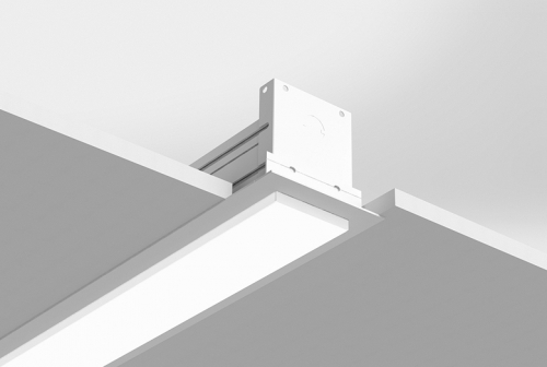 Microlinea Recessed Series 3 - Drywall Ceiling - Overlap Flange with .375 Accent Lens