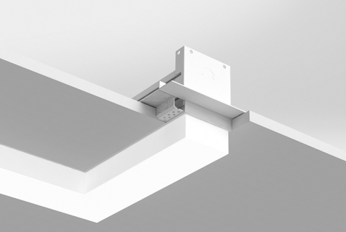 Microlinea Recessed Series 3 - Horiz. 90 Deg. Corner - Spackle Flange with 1.375 Accent Lens